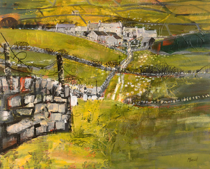 Hill Farm, Wharfedale by MIKE BERNARD RI
