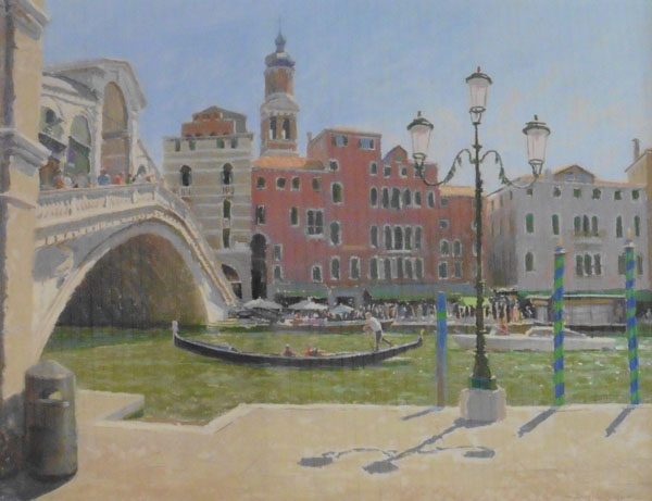 The Grand Canal at Rialto by DAVID ALLEN RSMA