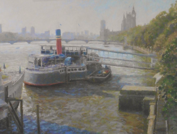 The Thames at Westminster by DAVID ALLEN RSMA