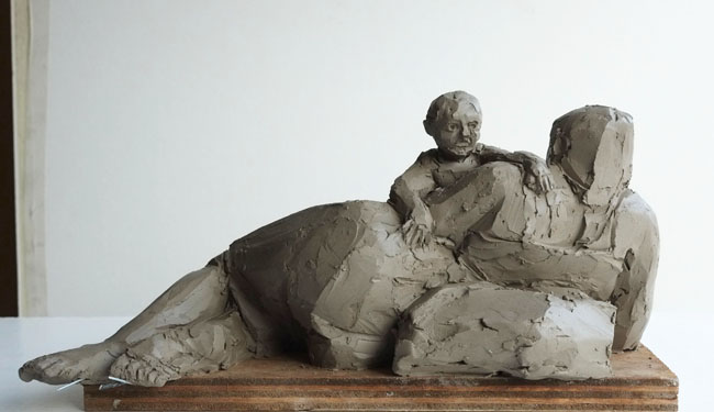 Mother and Child, Reclining by CHRISTOPHER KELLY