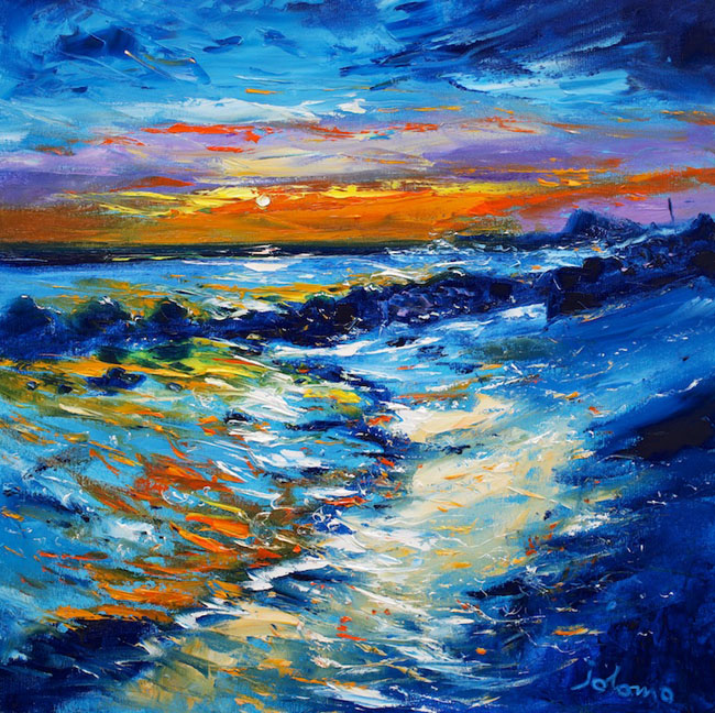 Evening Gloaming on the Singing Sands of Islay by JOHN LOWRIE MORRISON
