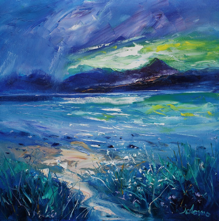 Storm over Isle of Arran from Kintyre by JOHN LOWRIE MORRISON