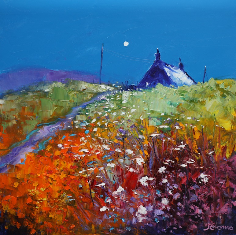 Evening Gloaming, Bruernish, Isle of Barra by JOHN LOWRIE MORRISON
