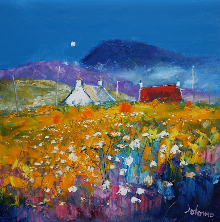 Misty Summer Evening, Isle of South Uist by JOHN LOWRIE MORRISON