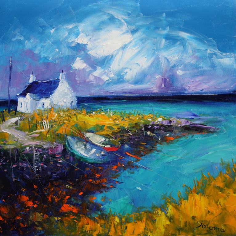 Summer Showers, North Uist by JOHN LOWRIE MORRISON