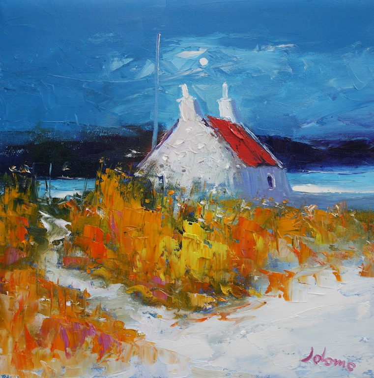 Croft on the Shore, Isle of Benbecula by JOHN LOWRIE MORRISON