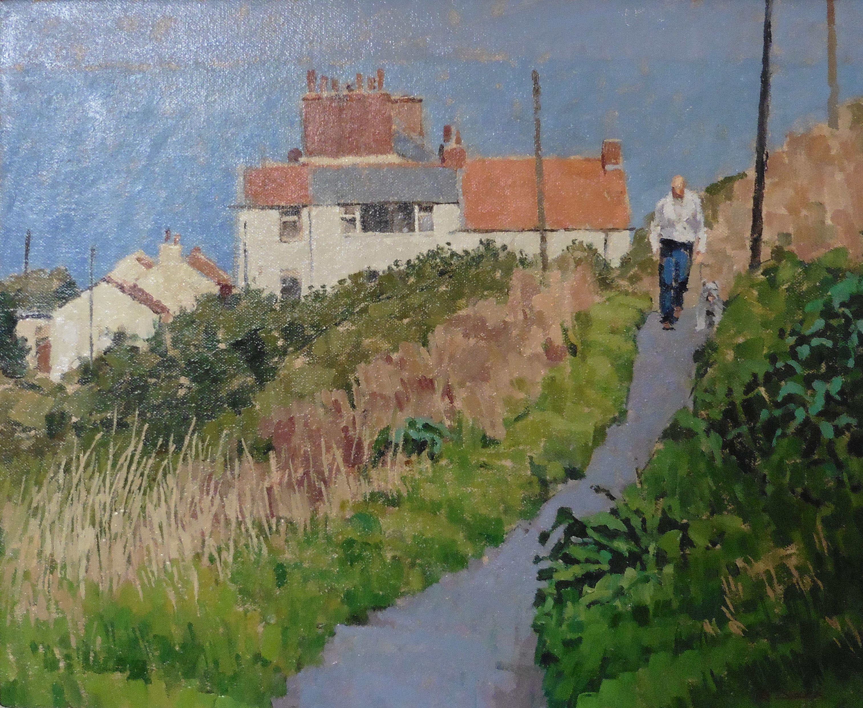 Morning Walk, Staithes by RICHARD DACK RSMA