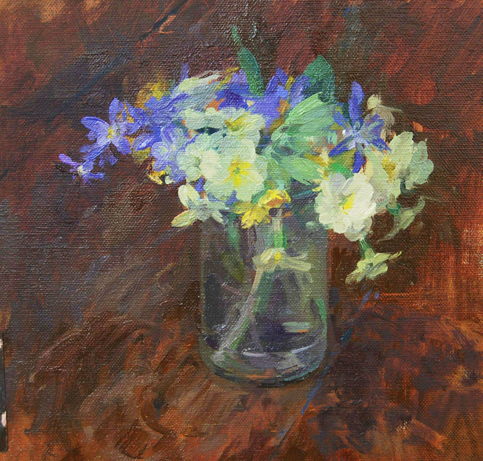 Primroses, Scillas and Cowslips by GILLIAN ROBERTS