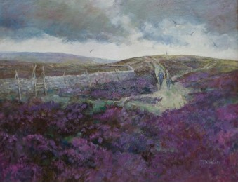 On Moorland Pathways by TOM WANLESS ROI RBA