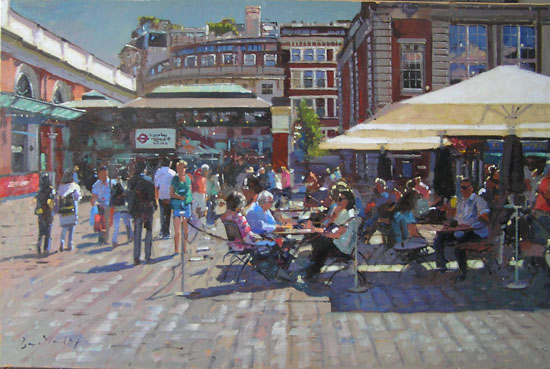 Covent Garden, Summer in the Piazza by BRUCE YARDLEY