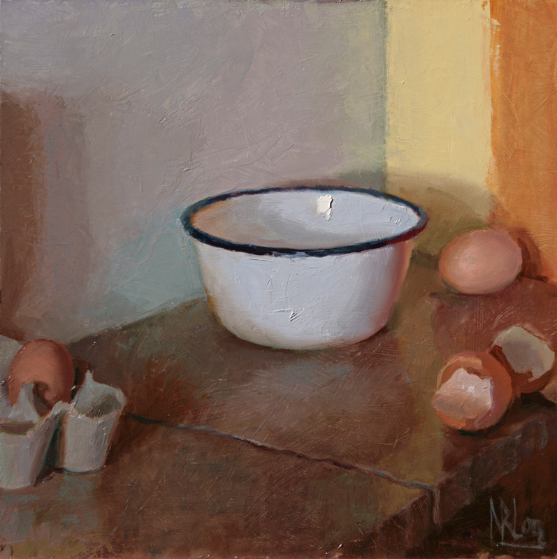 Bowl with Broken Eggs by NORMAN LONG