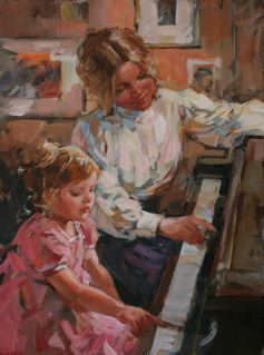 Rubys First Lesson by DIANNE FLYNN