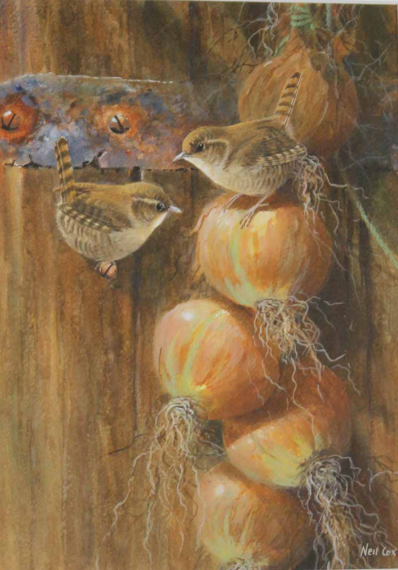 Wrens on a String of Onions by