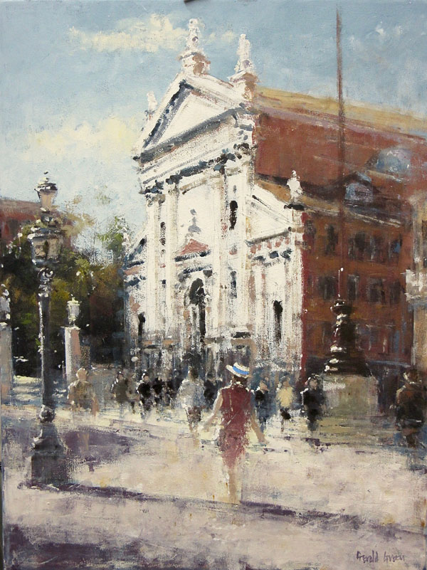 In the Campo San Stephano, Venice by GERALD GREEN