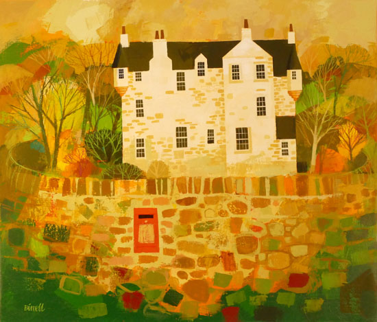 Castle Wall and Post Box by GEORGE BIRRELL
