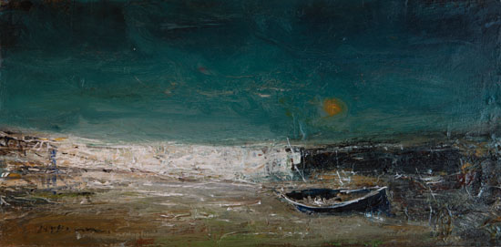 Abandoned Boat, Auchmithie by NAEL HANNA