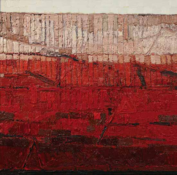 Painting in Red and Ochre by JAKE ATTREE