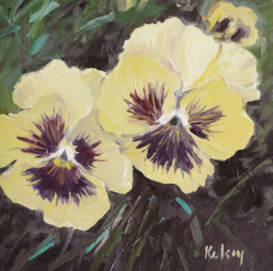 Pansies in the Garden by ROBERT KELSEY DA, MUniv, PAI, FRSA