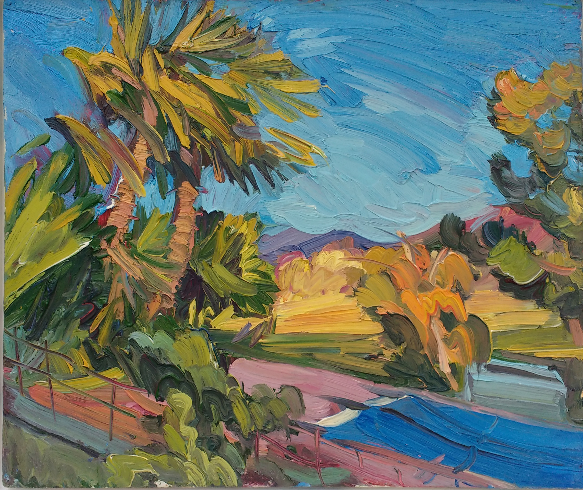 Palm Trees in the Breeze, near the Pyrenees by EDWARD BEALE