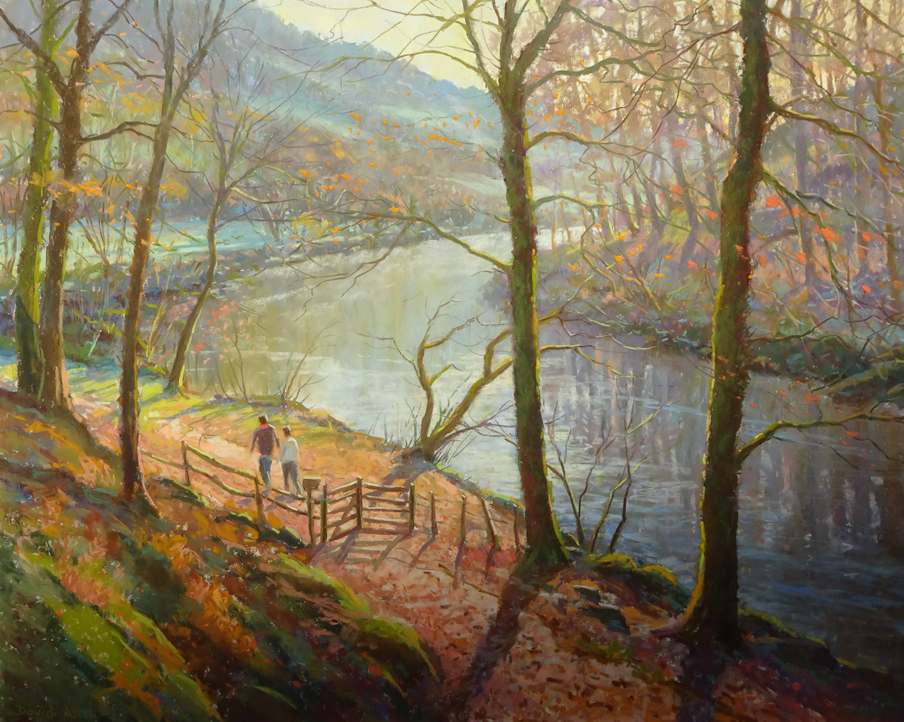 Frosty Morning, Howgill Wharfedale by DAVID ALLEN