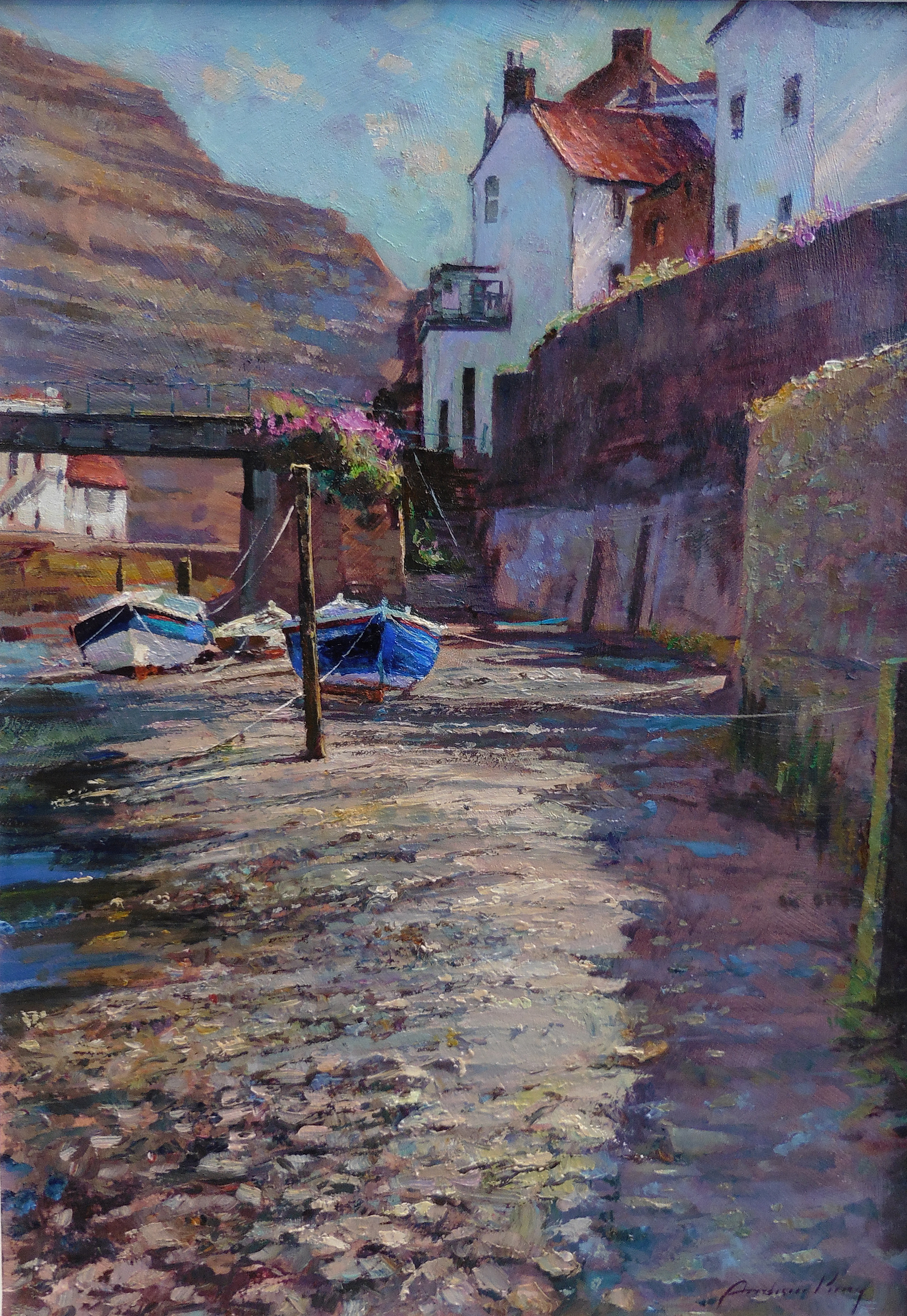 Roxby Beck, Low Tide, Staithes by ANDREW KING ROI IEA EAGMA