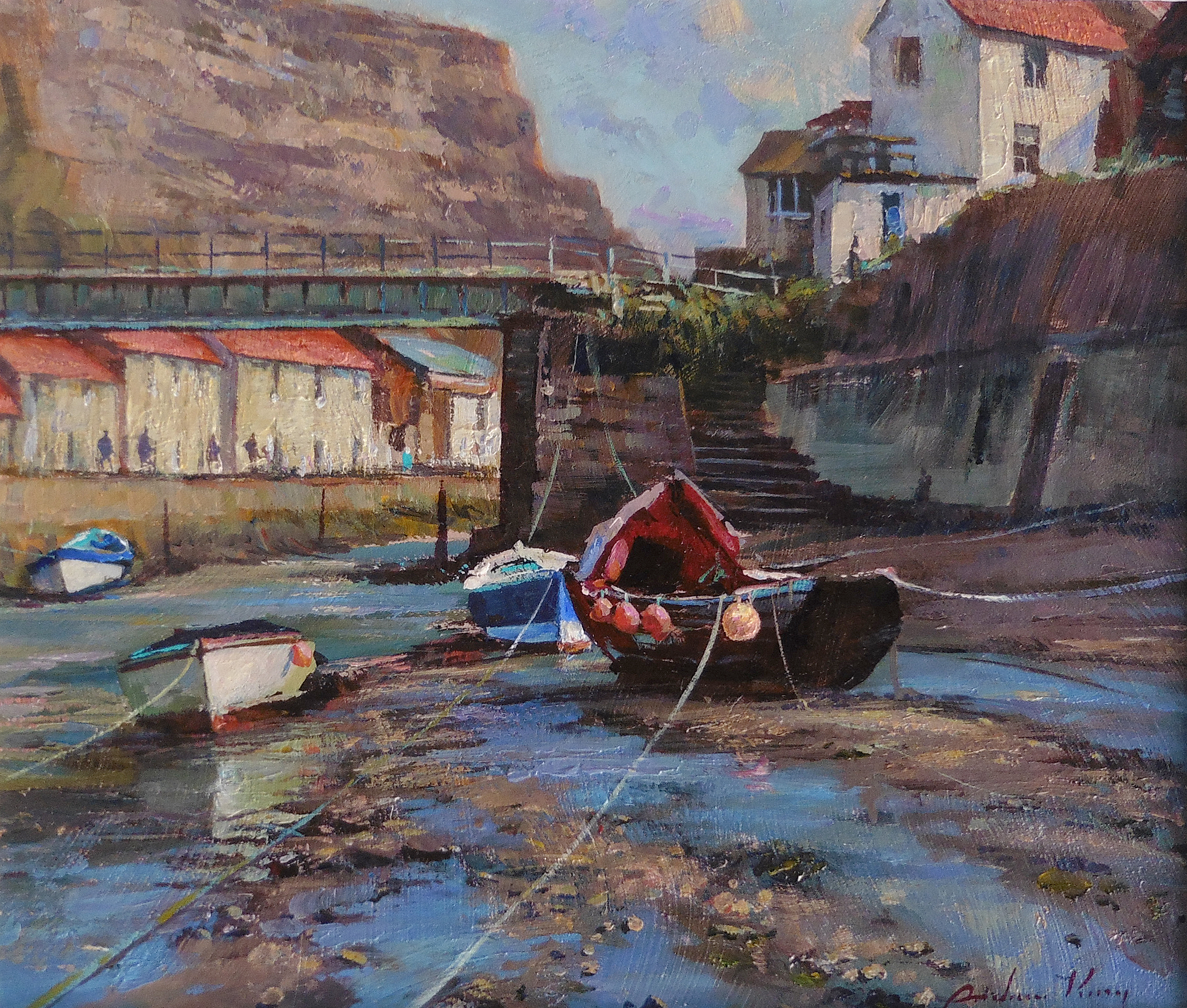 Low Tide, Afternoon Light, Staithes by ANDREW KING ROI IEA EAGMA
