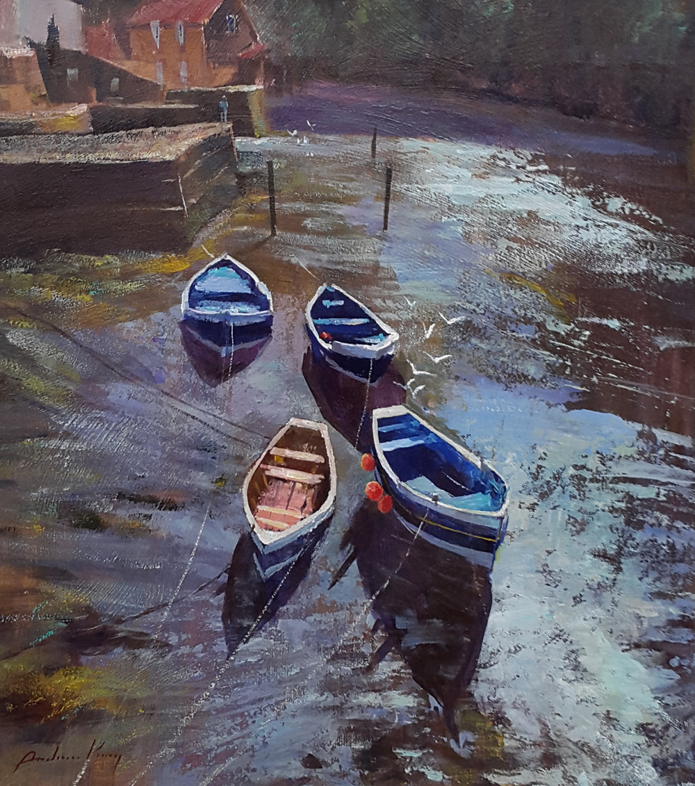 Sunlight on Water, Roxby Beck, Staithes by ANDREW KING ROI IEA EAGMA