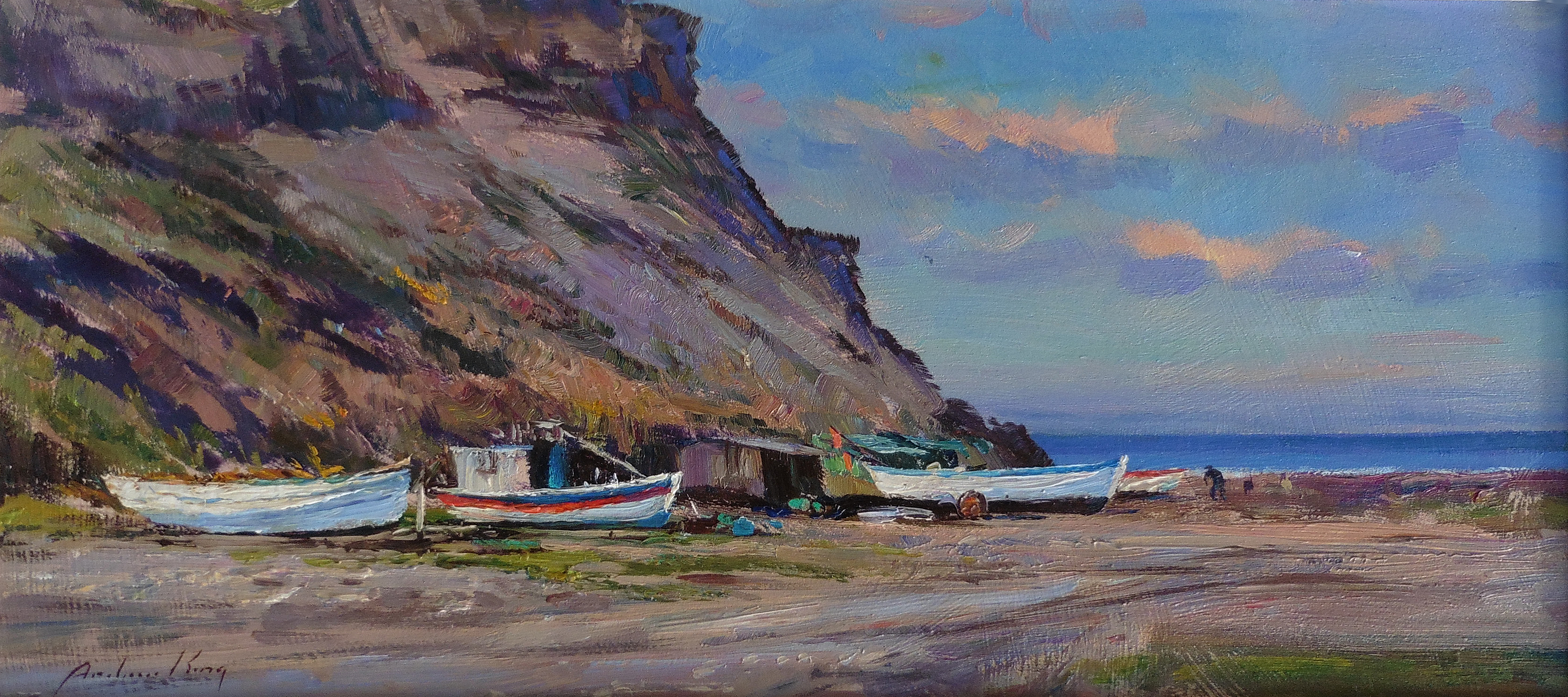 Fishing Boats, Port Mulgrave, North Yorkshire by ANDREW KING ROI IEA EAGMA