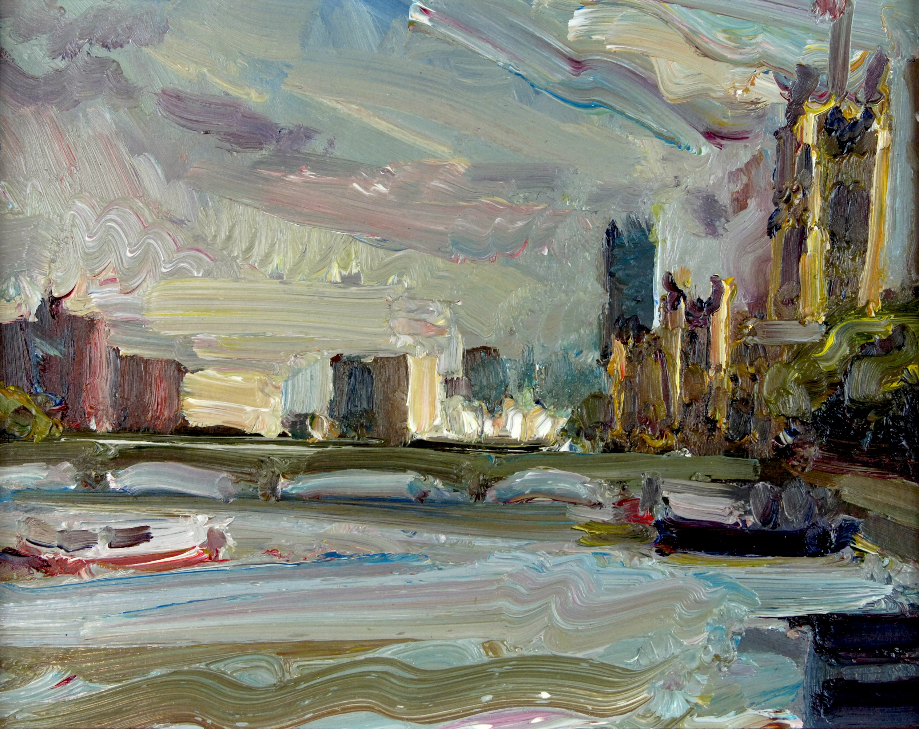 View from Hungerford Bridge by LAWRENCE QUIGLEY